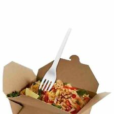 More details for no1 standard white cpla compostable biodegradable fork - pick a quantity
