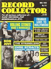 RECORD COLLECTOR 111 Rolling Stones HOLLIES Honeybus STRANGLERS Tom Jones BOLAN