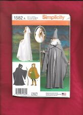 SIMPLICITY  Unisex  CAPE WIZARD COSTUMES  ADULTS XS S M L XL 1582