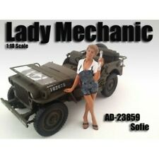 "1:24 Scale American Diorama (7.5 cm) Figure - ""Lady Mechanic Sofie"" # AD-23959"