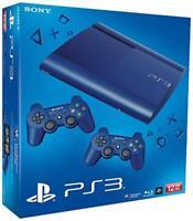 Sony Playstation 3 / PS3 SUPER SLIM 12 GB BLAU - NEU & OVP - inkl. 2 Controller