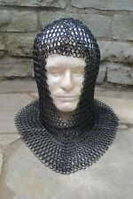 NEW Medieval Knights Butted STEEL MAIL COIF HEAD ARMOR Helmet Liner