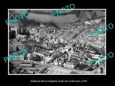 OLD LARGE HISTORIC PHOTO OF ASHBURTON DEVON ENGLAND, VIEW OF THE TOWN c1930 5