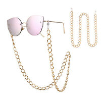 Gold Sunglasses Lanyard Strap Necklace Eyeglass Glasses Chain Cord Reading LY