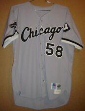 CHICAGO WHITE SOX MARK SALAS 1997 GRAY BUTTON-DOWN MLB JERSEY