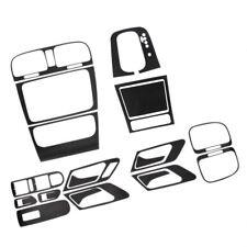 Black Carbon Fiber Interior Dashboard Panel Sticker Set FIT VW GOLF GTI MK6 AT