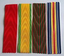 Lot de 4 rubans NEUFS pour Légion d'honneur, Médaille militaire, CDG, blessés.