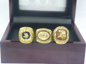 3 Pcs 1973 1974 1976 Minnesota Vikings World Championship Ring //--/