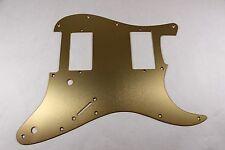 Brushed Gold Anodized  Aluminum HXH Strat Pickguard- Fits Fender Stratocaster
