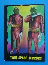"""1964 Bubbles **OUTER LIMITS** Card #28 - """"Twin SPACE Terrors"""" Ex"""