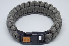 550 Paracord Survival Bracelet King Cobra Solid Gray Camping Military Tactical