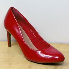 M&S Red PATENT High STILETTO Heel COURT SHOES ~ Size 5.5