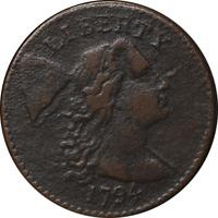1794 Large Cent Head of 1794 VF Details R.5- S.51 Decent Eye Appeal Nice Strike