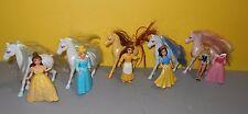 Disney Polly Pocket Disney Princess Horses Lot Belle - Snow White - Cinderella
