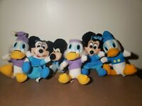 Lot of 6 Vintage 1984 Hardee's Disney Mickey's Christmas Carol Plush Stuffed Toy