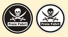 2 x Feinstaubplakette Humor Freie Fahrt Piraten Autoaufkleber Tuning Sticker