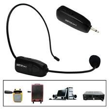 2.4GHZ FM Wireless Headset Microphone Handsfree Megaphone Mic fr Speaker Teacher
