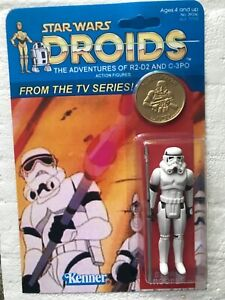 CUSTOM DROIDS STORMTROOPER ON AMAZING CARD DROIDS ANIMATED SERIES WITH GOLD COIN