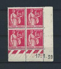 COIN DATÉ - 1938 YT 370 TYPE PAIX - TIMBRES NEUFS** MNH LUXE