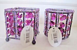Wedding Catering Table Decor Beaded Tealight Votive Candle Jewel Centerpieces