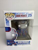 Funko POP! Marvel #25 Iron Man 3 Iron Patriot Vaulted Vinyl W/Protector