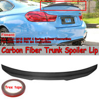 PSM Style Carbon Fiber Rear Trunk Spoiler For BMW F33 F83 M4 Convertible 14-19