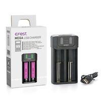 Ni-mh / Li-ion USB Battery Charger AA AAA 18650 21700 Batteries 2 Slot NiCd NiMH