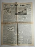 N221 La Une Du Journal the daily news 16 avril 1912 titanic goes down off cape