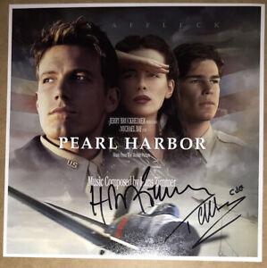 SIGNED HANS ZIMMER TREVOR HORN 12x12 PEARL HARBOR SOUNDTRACK PRINT PHOTO PROOF