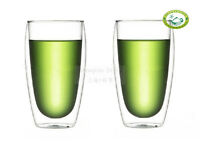 Clear Double Wall Glass Tea / Coffee Cups Glasses 450ml/15.8oz S10