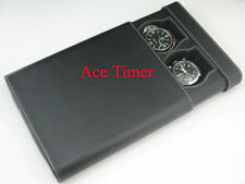2 Watch Black Traveling & Storage Case Box Fits 44mm 45mm 47mm Size Panerai