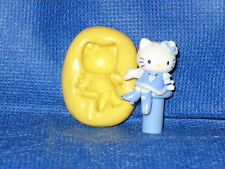 Sitting Hello Kitty Push Mold Flexible Resin Clay Candy Food Safe Silicone  #714