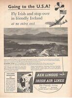 1960 Original Advertising' Vintage American Aer Lingus Irish Air Lines Ireland