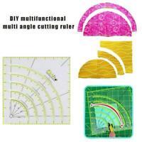 Arcs & Fans Quilt Circle Cutter Ruler-Original Handmade Tailor Tool Sewing B1G6