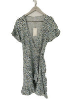 BNWT TIGERLILY LADIES ALAMEA WRAP DRESS (BLUE FLORAL)SIZE 8 RRP $179.99 LAST ONE