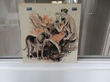 GILBERT WILKINSON  1930S ART DECO ILLUSTRATION  PEN INK & COLOUR 30X30cm DOG
