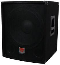 "Rockville SBG1184 18"" 1000 Watt Passive 4-Ohm Pro DJ Subwoofer, MDF/Pole Mount"