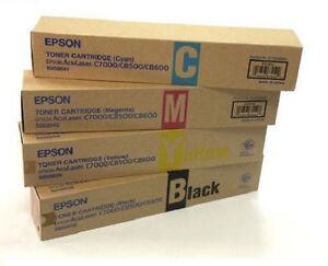 4 x Original Toner EPSON Aculaser C8500 C8600 / S050038 S050039 S050040 S050041