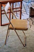 Industrial Vintage Mid Century Japanese Sankei Metal Folding Outdoor Chair, Pink