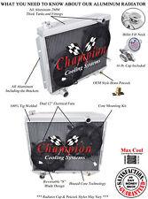 "4 Row Performance Champion Radiator W/ 2 12"" Fans for 1957 Ford Custom V8 Engine"