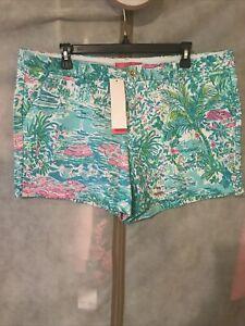 NWT Lilly Pulitzer Callahan Knit Short Gustavos Green Sunshine City 16 Free Ship