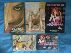 Madonna Drowned World, Re-Invention, Confessions Tour Merchandise Catalog + Pins