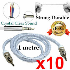 10 1m Durable AUX Auxiliary Cable 3.5mm Male to Male Stereo Audio Input car cord