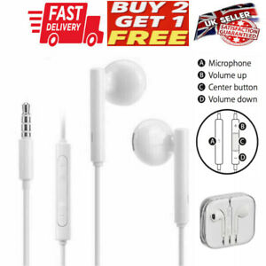 IN EAR 3.5mm  EARPHONES EXTRA BASS WITH MIC for Apple Huawei Xiaomi SAMSUNG SONY