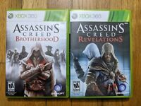 USED (Complete) Assassins Creed Brotherhood + Revelations Xbox 360 Lot of 2