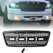 Fits 04-08 Ford F150 Raptor Style Black Front Hood Grille Conversion W/ LED