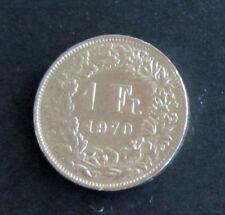 Münze 1 Schweizer Franken 1970 aus Umlauf gültiges Zahlungsmittel Sammler