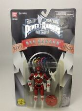 SEALED 1995 Mighty Morphin Power Rangers the Movie RED RANGER w Movie T-Rex Coin