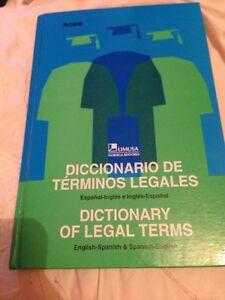 Spanish English Dictionary Of Legal Terms Law Diccionario De Terminos Legales