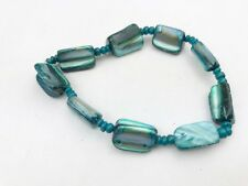 VINTAGE DYED MOTHER OF PEARL NATURAL EARTH EXPANDABLE BRACELET BANGLE